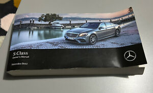 MERCEDES S CLASS OWNERS MANUAL HANDBOOK S320 S350 S400 S450 S500 W222 2014-2020