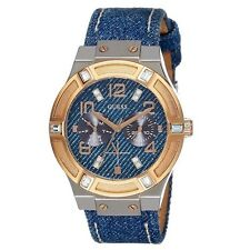 Guess Ladies Blue & Rose Gold Jet Setter Watch (W0289L1) RRP £149
