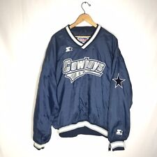 Vintage Starter NFL Dallas Cowboys Mens Size LARGE Pullover Windbreaker PRO LINE