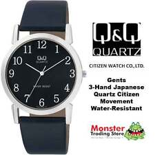 AUSSIE SELLER GENTS LEATHER BAND WATCH CITIZEN MADE Q662J305 12-MONTH WARRANTY