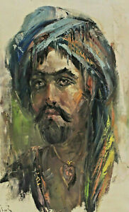 Signed A Chilsah? - Man With Turban Indians Persian?