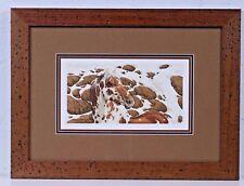 Bev-Doolittle- ''HIDE AND SEEK'' Cameo a  UV-Glass-3-ct-Mats-wood-frame-