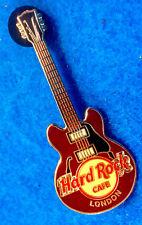 LONDON ENGLAND CHOC BROWN 4 STRING CORE GIBSON GUITAR SERIES Hard Rock Cafe PIN