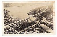 c1930 RPPC SEATTLE WA FREMONT AURORA BRIDGE LAKE VINTAGE POSTCARD WASHINGTON OLD