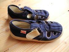2. LEMIGO Jungen Hausschuhe 27 blau Zweillinge Pantoffeln Freizeitschuhe Klett