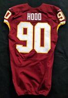 #90 Ziggy Hood of Redskins NFL Locker Room Game Issued Player Worn Jersey