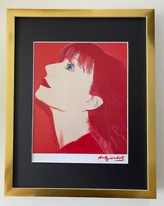 ANDY WARHOL + RARE 1984 SIGNED SONIA RYKEL PRINT MATTED TO BE FRAMED 11X14