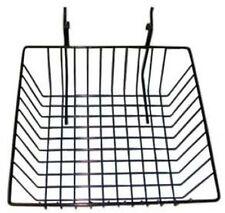"Slatwall/Gridwall Basket 12"" Long x 12"" Deep x 4"" High Black"