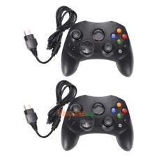 2X Wired Joypad Controller Schwarz Gamepad Klassisches Original Xbox Dual Shock