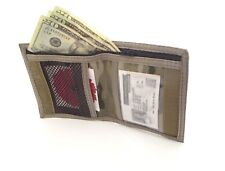 Made in USA Rainbow of California Bifold Neck ID Wallet w/Zipper Water Resistant