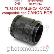 TUBO PROLUNGA MACRO per CANON EOS EF EF-S kit set tubi prolunga