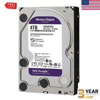 WD Purple 4TB Video HDD Surveillance Hard Disk Drive 5400 RPM SATA 6 Gb/s 64MB