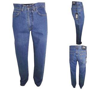 Gianfranco ferre jeans da uomo regular fit pantaloni denim blu in cotone 44 45 '
