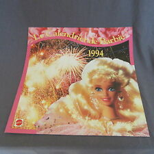 777B Mattel Calendrier 1994 Barbie 16 pages 30 X 30 CM