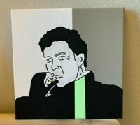 """To Live and Die in LA Pop Art Hand Painted Painting Artwork Canvas 12X12"""" inches"""