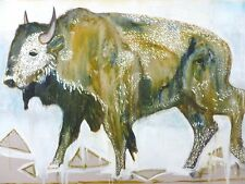 Billy Childish - Bison   SIGNED NUMBERED LIMITED EDITION ART PRINT 3/31