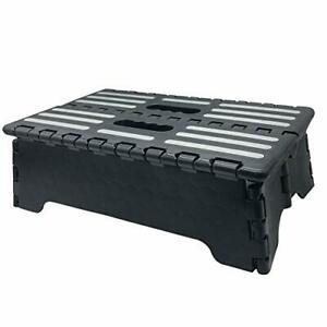 5 Inch Portable Folding Step The Lightweight Step Stool Is Sturdy Enough To Supp