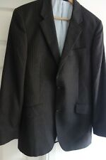 'T M LEWIN' MEN'S WOOL PIN-STRIPED GREY JACKET SIZE 38 R IN EXCELLENT CONDITION