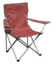 Folding Armchair Portable Lawn Chair Large Heavy Duty Sturdy Garden Outdoor Red