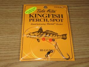 4 KINGFISH PERCH SPOT RIGS TIDE RITE R250 HI-LO SALTWATER RIG FISHING MUSTAD