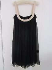 BEAUTIFUL BLACK SILK, LINED DRESS BY COOPER ST SIZE 10/12