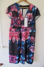 Free Post Womens NWT Cooper St + Black Floral Dress Size  22