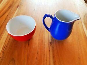 Kahla Pronto Colore Milchkännchen Zuckerschale Blau Rot