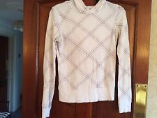 H&M Ladies Hoodie Size 8 - White Aztec Pink Sport Gym Fashion Stretch Jacket