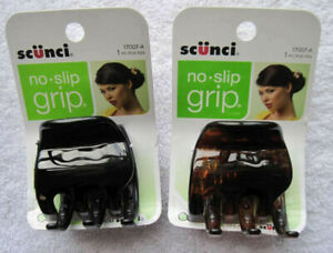 1 Scunci No Slip Grip Slideproof Stay Put Secure Hold Chunky Large Jaw Claw Clip