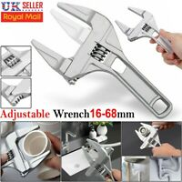 Adjustable Large Spanner Wrench 16-68mm Opening Bathroom Nut Key Hand Tool DIY