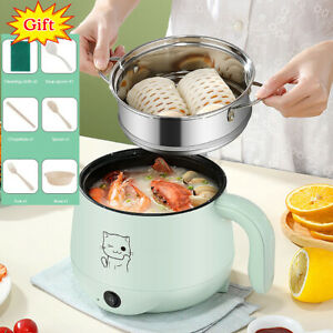 Mini Cooking Machine Electric Skillet Noodle Rice Cooker Hot Pot Pan