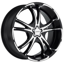 Forte F50 Twisted 20X8.5 5x114.3/5x112 +35mm Black/Machined Wheel Rim