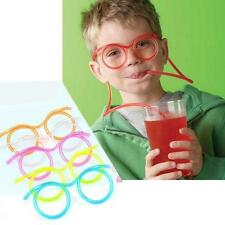 est Creative Drink Straws Kids Party DIY Crazy Funny Glasses Drinking tube RR