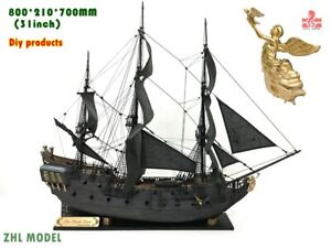 ZHL The black Pearl Golden version 2021 wood model ship kit 31 inch