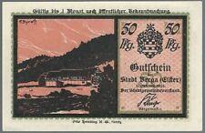 Notgeld - Stadt Berga an der Elster - 50 Pfennig - 1921 - Motiv 1: Hammermichel