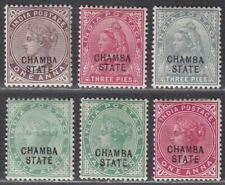 Indian States Chamba 1887-1904 QV Overprint Selection to 1a Mint