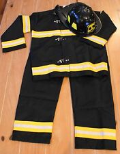 New Pottery Barn Teens FIREFIGHTER Fireman Costume & Hat Kids Size 9-10