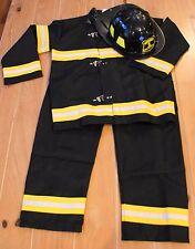 New Pottery Barn Teens FIREFIGHTER Fireman Costume & Hat Kids Size 9-10