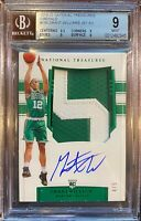 2019-20 National Treasures Grant Williams EMERALD /5 RPA Patch Auto *BGS 9 MINT*