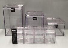 Zak Designs MeeMee Kitchen Homeware Stackable Canisters x 7 Units  Clear Colour