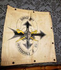 U.S. Naval Surface Advertisement Sign 29X31 Vintage Rare Navy