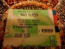 YNGWIE MALMSTEEN Live Rock Concert Dublin Ireland 2005 Memorabilia Ticket