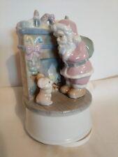 Porcelain Musical Santa Christmas Heirloom Vintage '91 Jingle Bells Tune