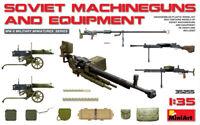 Miniart 1:35 Soviet Machine Guns & Equipment WWII Era Model Kit
