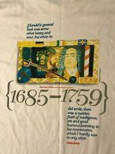 Vintage 90s George Frideric Handel T-Shirt Composer Opera Piano Music Baroque