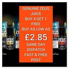GENUINE LUXURIOUS ZEUS JUICE | BUY 4 GET 1 FREE | 10ML | 50/50 | VG/PG