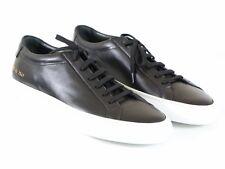 NEW COMMON PROJECTS ACHILLES ORIGINAL LOW Black Leather w/White Sole 42 EU