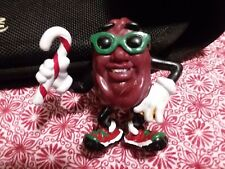 1988 Applause California Raisins with Christmas Candy Cane PVC Figurine Figure