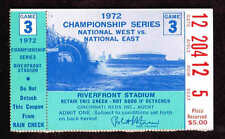 1972 NLCS GAME 3 TICKET STUB PITTSBURGH PIRATES  vs  CINCINNATI REDS Clemente