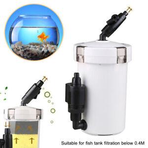 Home Aquarium Canister Filter External Aquarium Filtration 6W 400L/h Regular